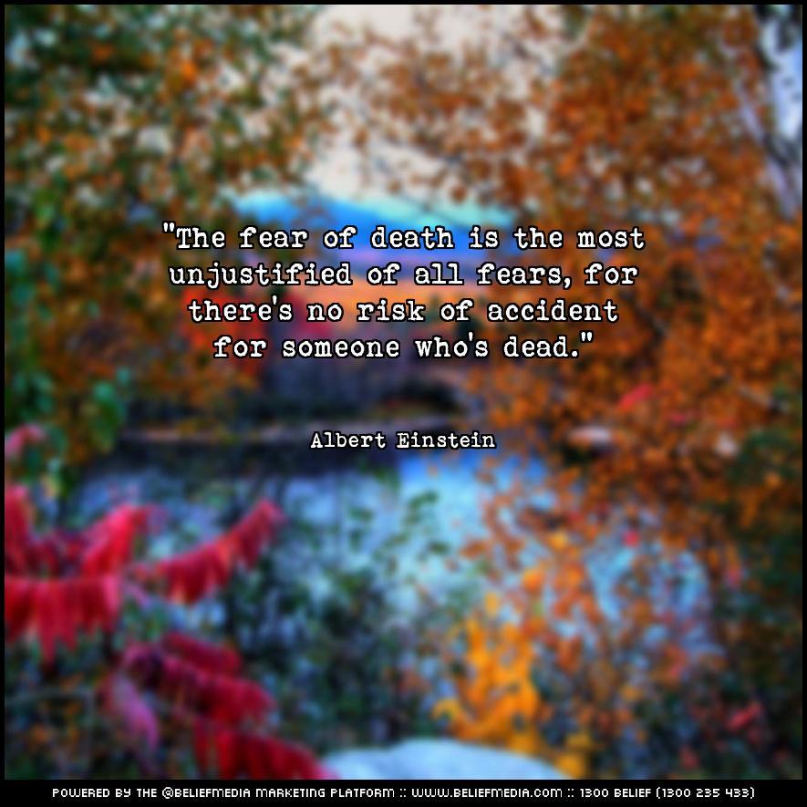Quote from Albert Einstein about Death