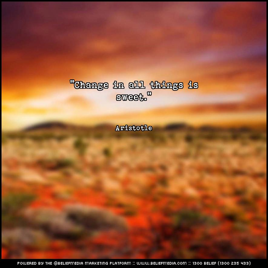 Quote from Aristotle about Change