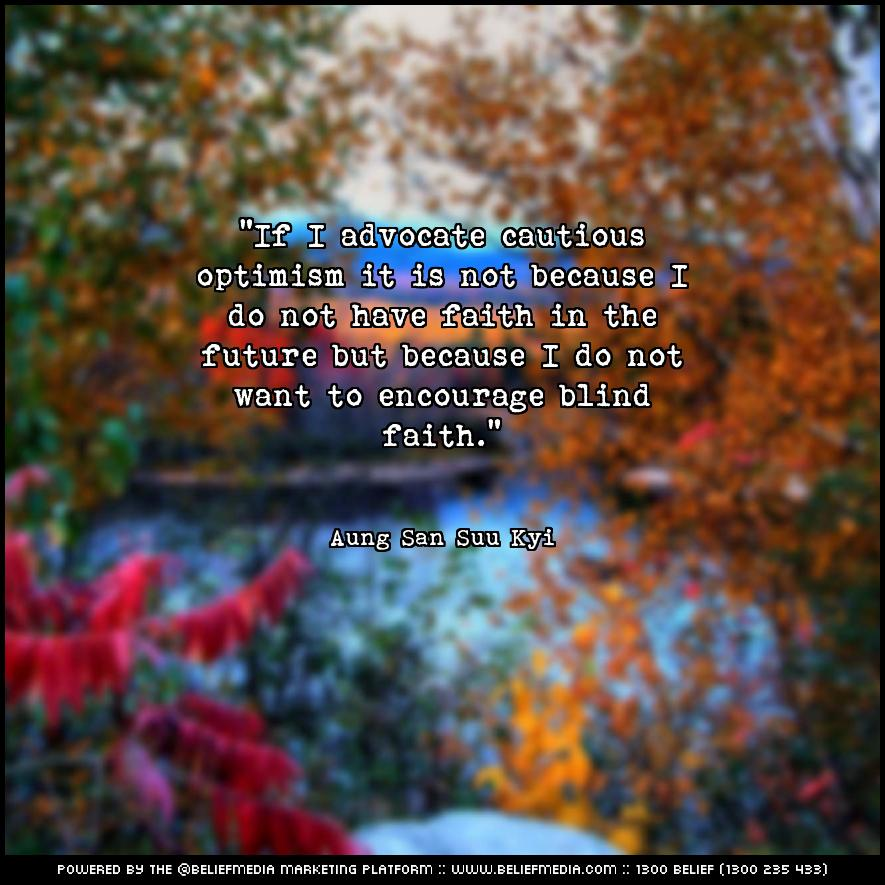 Quote from Aung San Suu Kyi about Faith