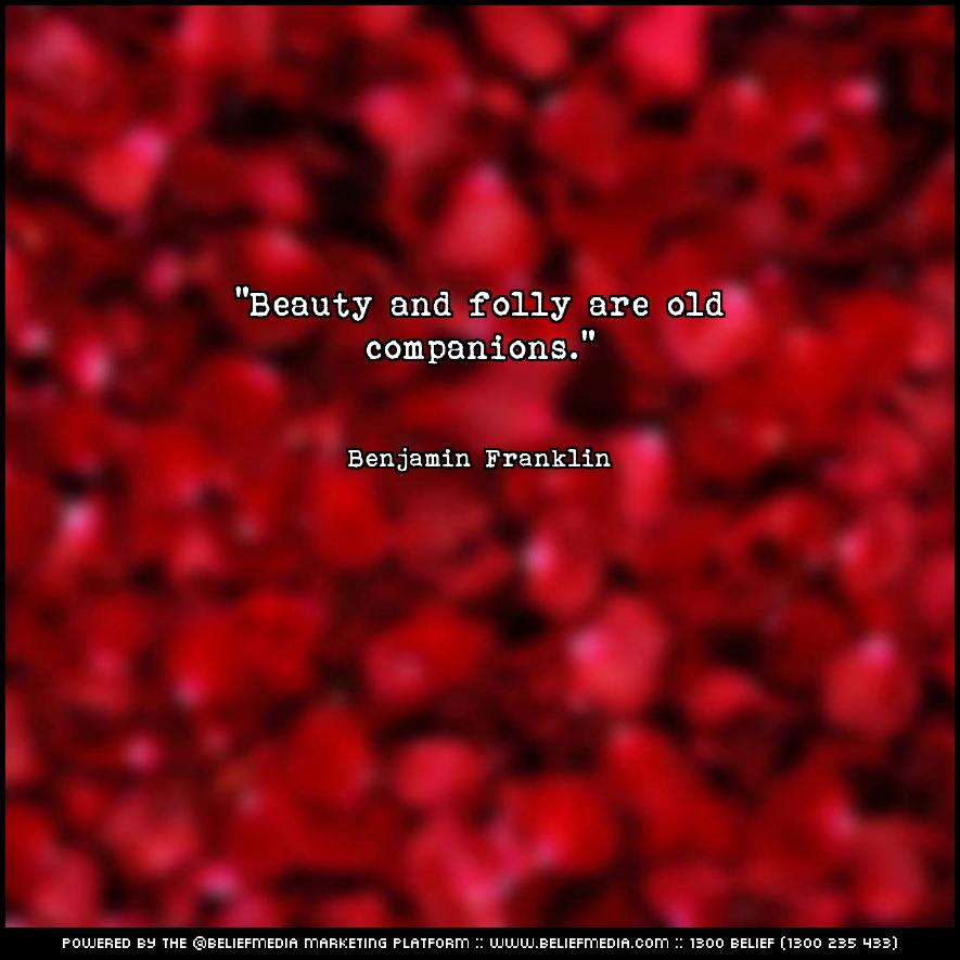 Quote from Benjamin Franklin about Beauty
