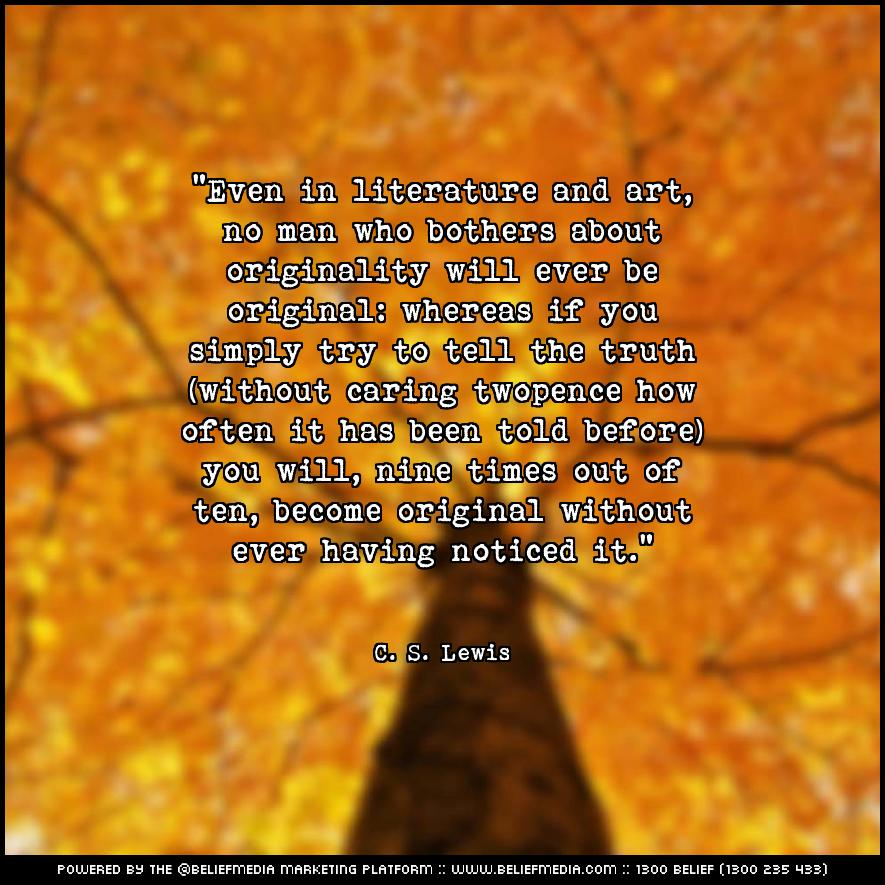 Quote from C. S. Lewis about Art
