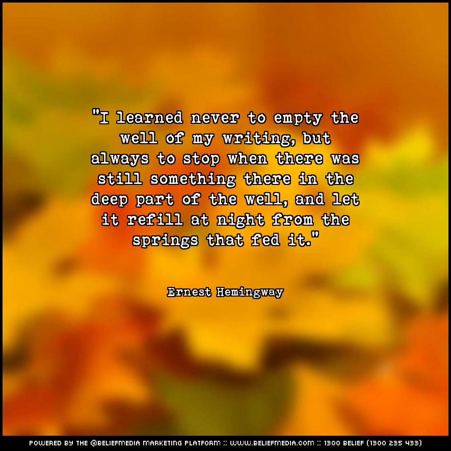Quote from Ernest Hemingway about Communication