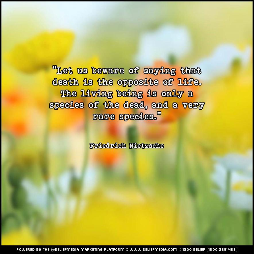 Quote from Friedrich Nietzsche about Death