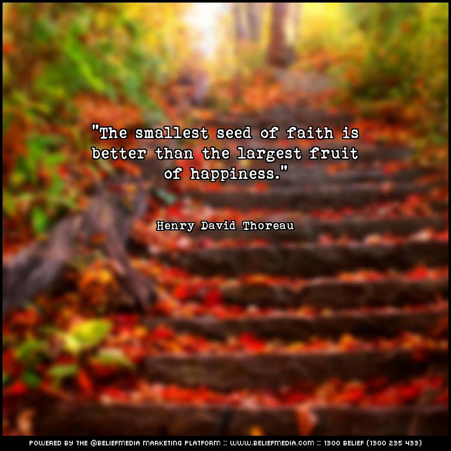 Quote from Henry David Thoreau about Faith