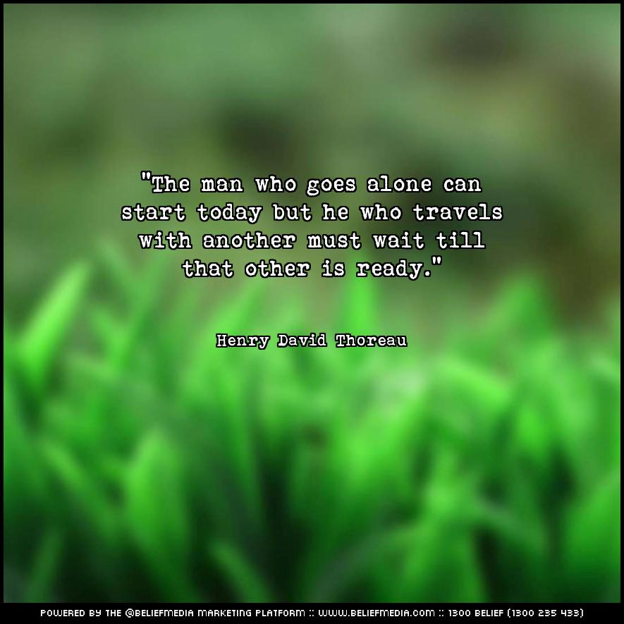 Quote from Henry David Thoreau about Alone