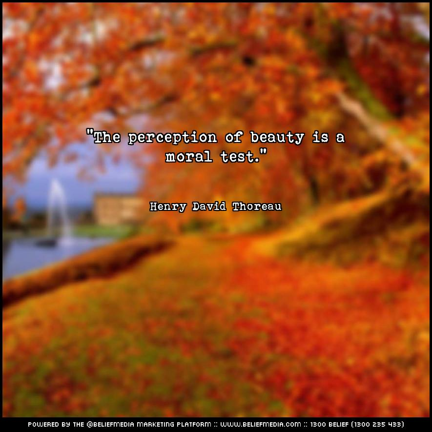Quote from Henry David Thoreau about Beauty