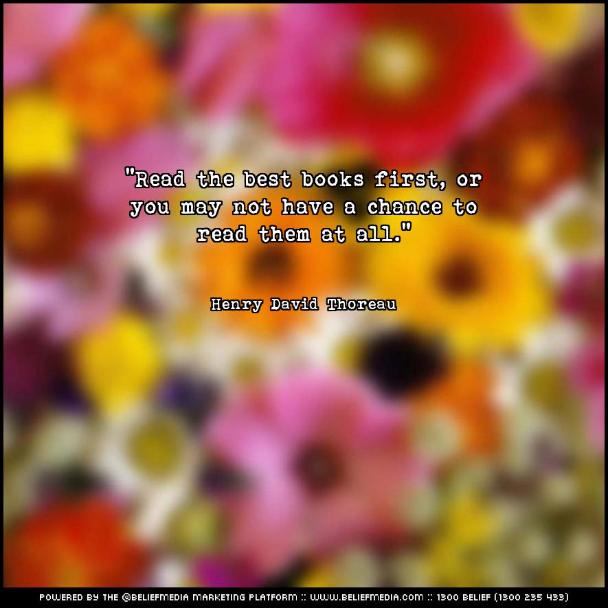 Quote from Henry David Thoreau about Best