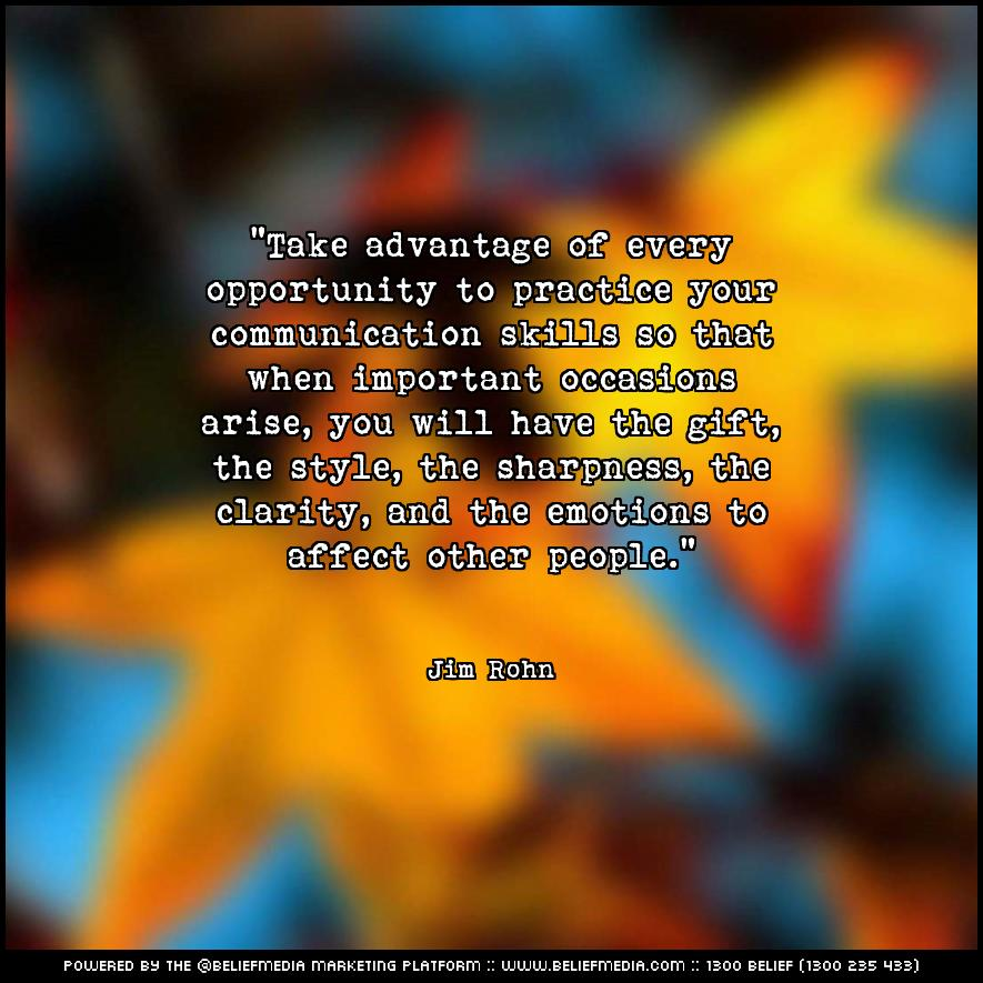 Quote from Jim Rohn about Communication