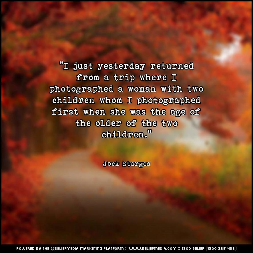 Quote from Jock Sturges about Age