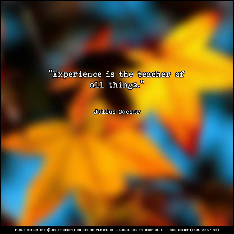 Quote from Julius Caesar about Experience