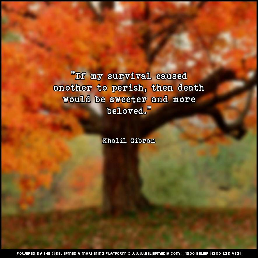 Quote from Khalil Gibran about Death