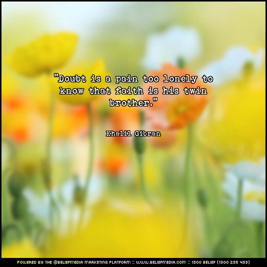 Quote from Khalil Gibran about Faith