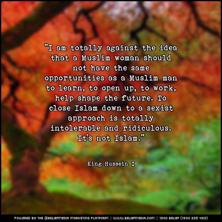Quote from King Hussein I about Equality