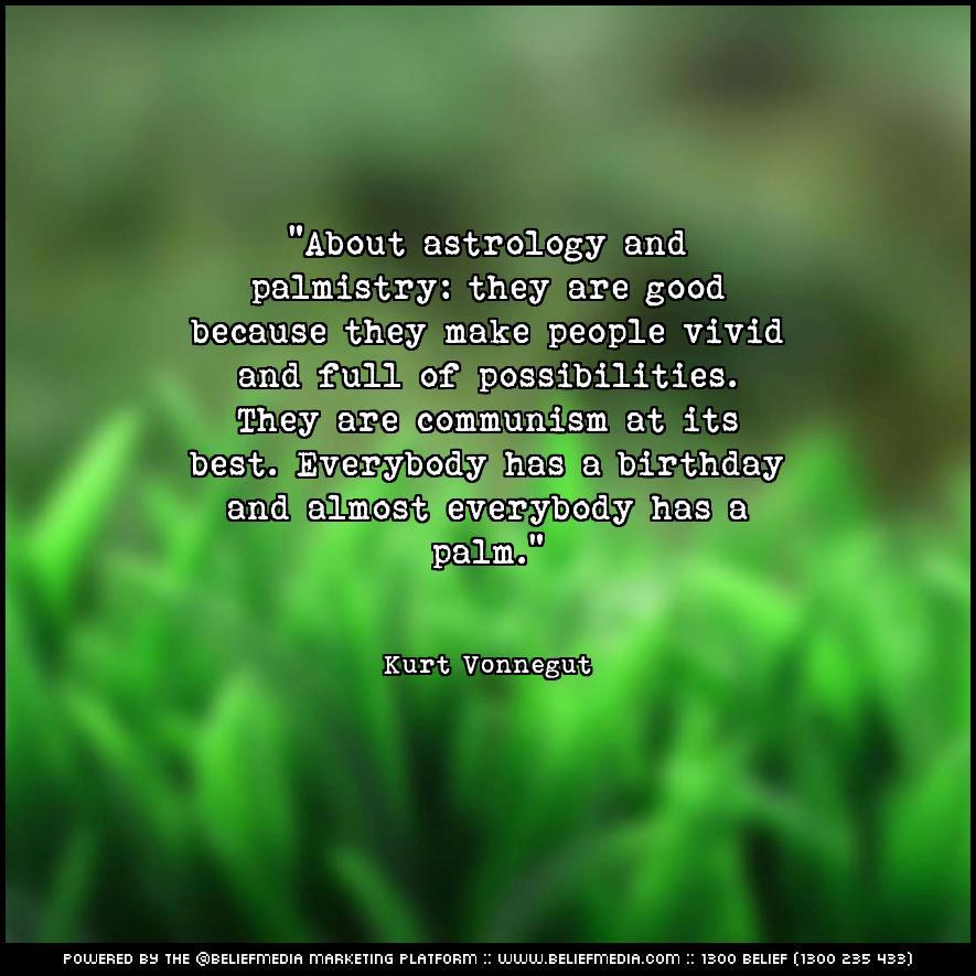 Quote from Kurt Vonnegut about Birthday