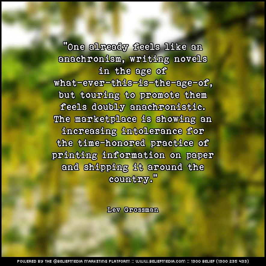 Quote from Lev Grossman about Age