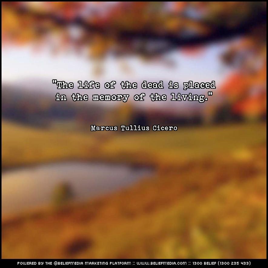 Quote from Marcus Tullius Cicero about Death