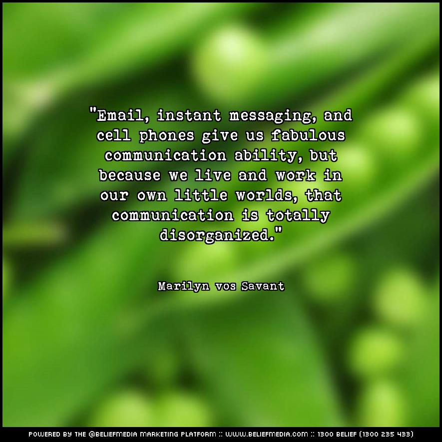 Quote from Marilyn vos Savant about Communication