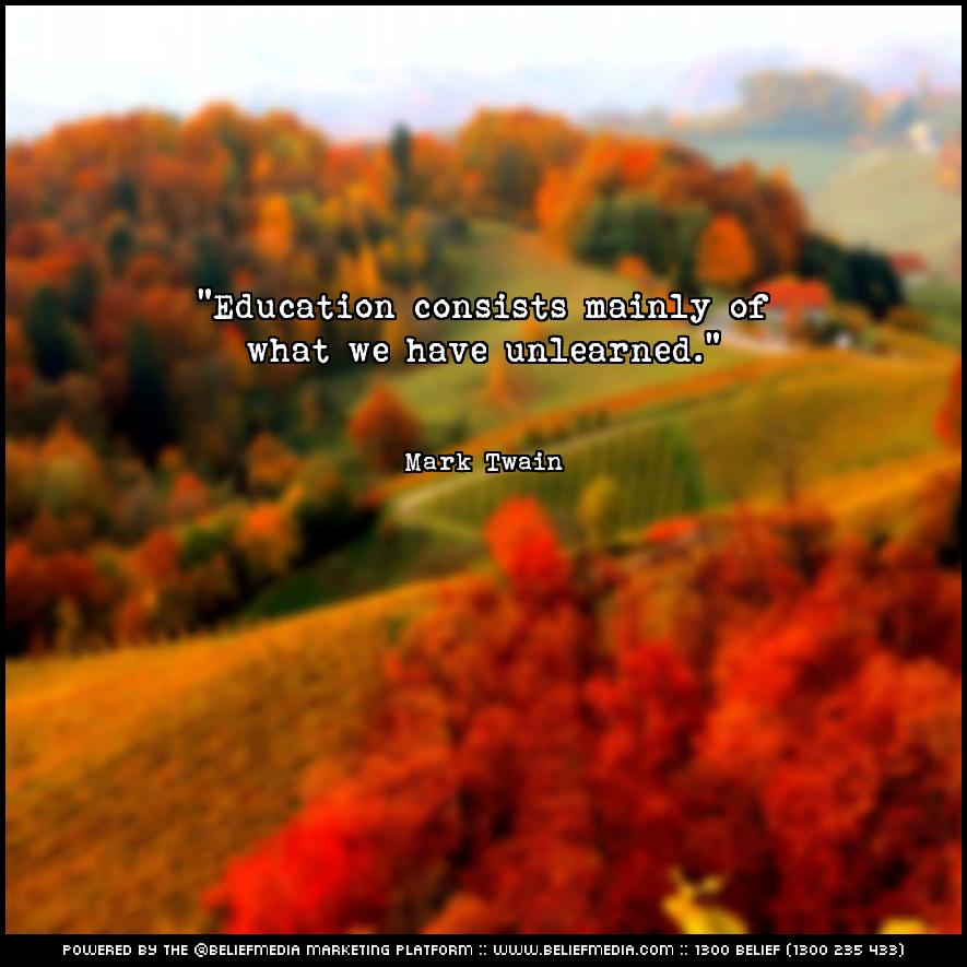Quote from Mark Twain about Education