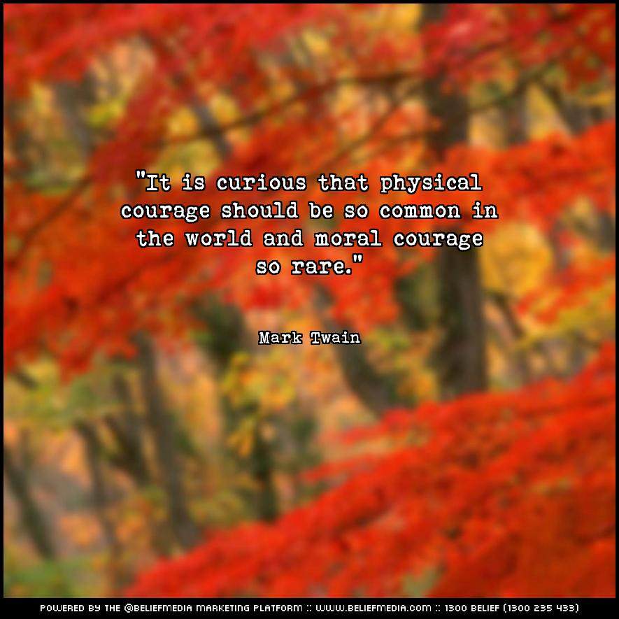 Quote from Mark Twain about Courage