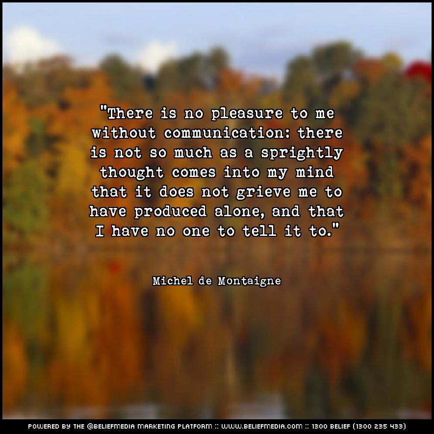 Quote from Michel de Montaigne about Alone