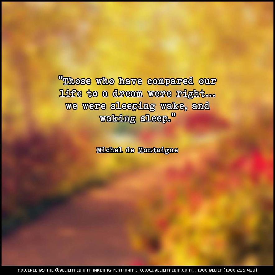 Quote from Michel de Montaigne about Dreams