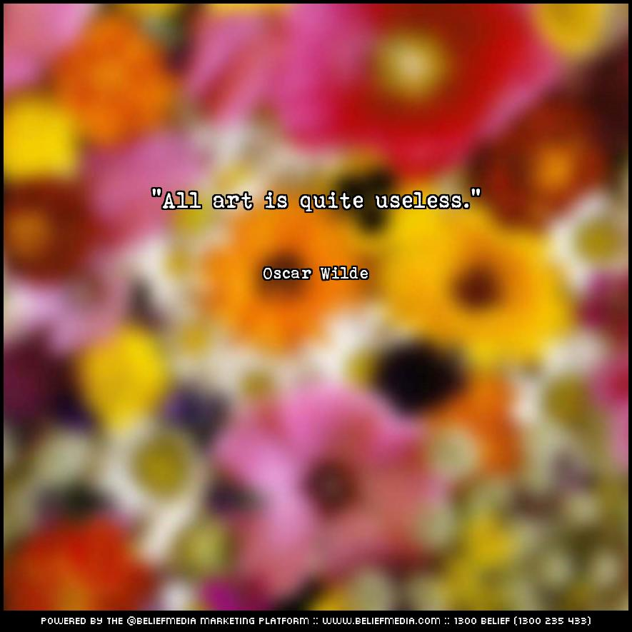 Quote from Oscar Wilde about Art