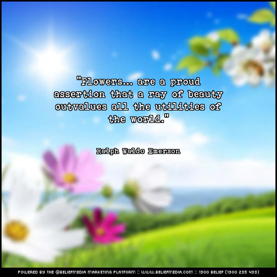 Quote from Ralph Waldo Emerson about Beauty
