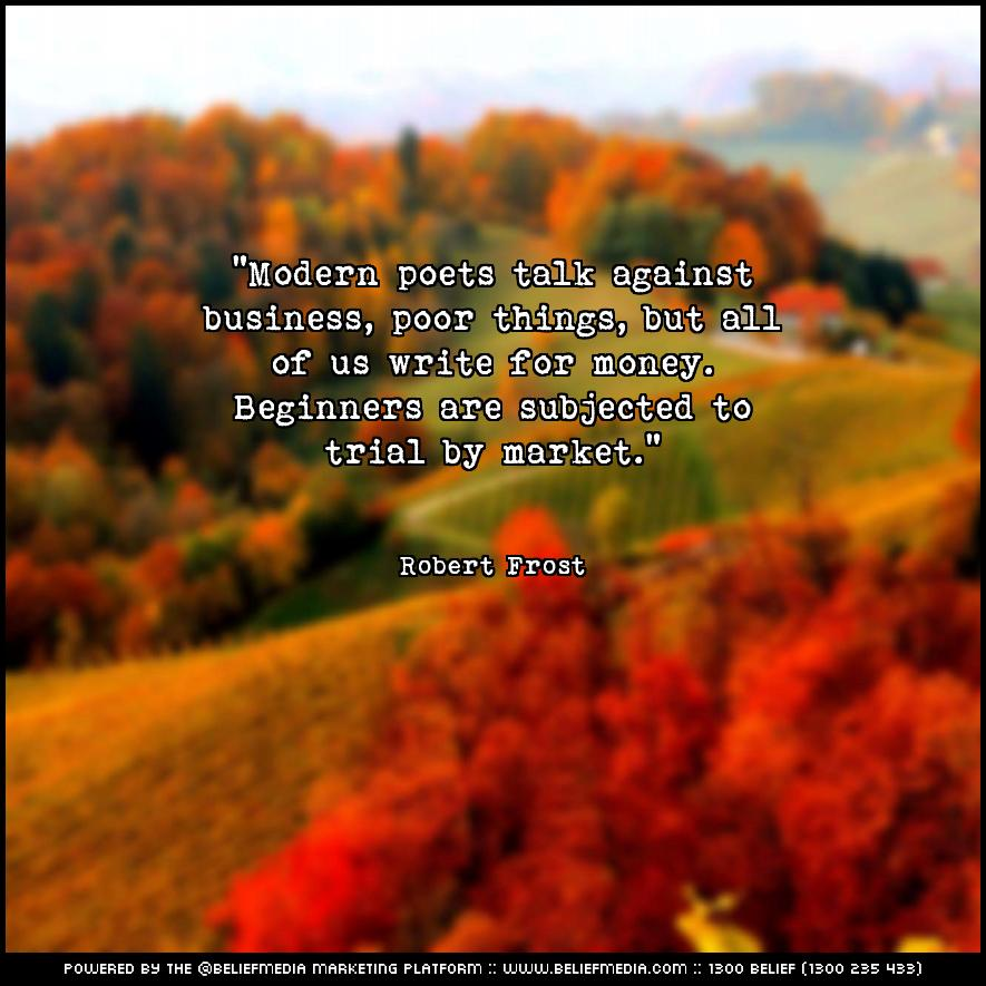 Quote from Robert Frost about Business