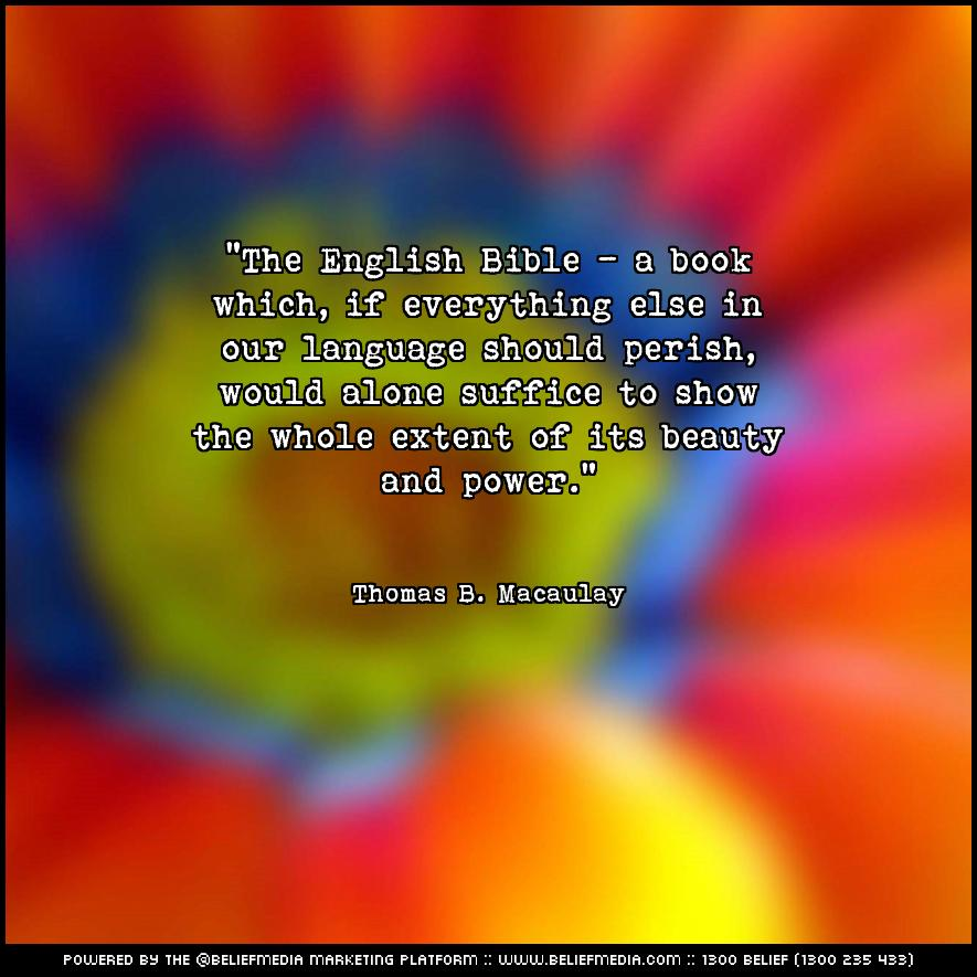 Quote from Thomas B. Macaulay about Beauty