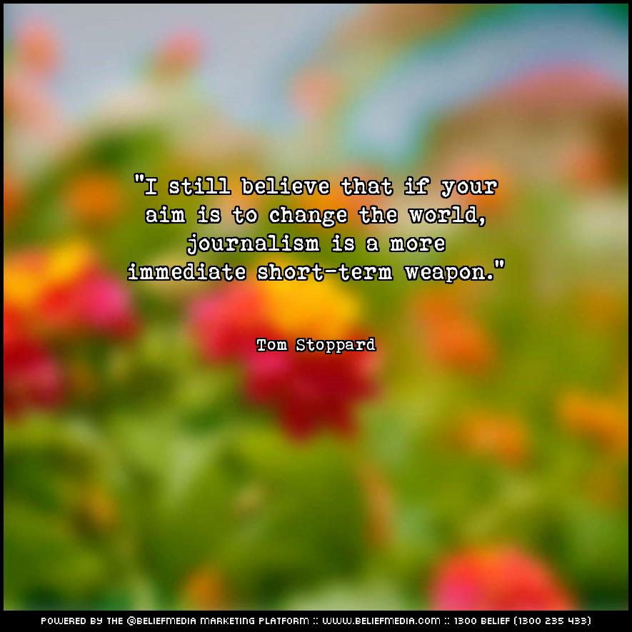 Quote from Tom Stoppard about Change