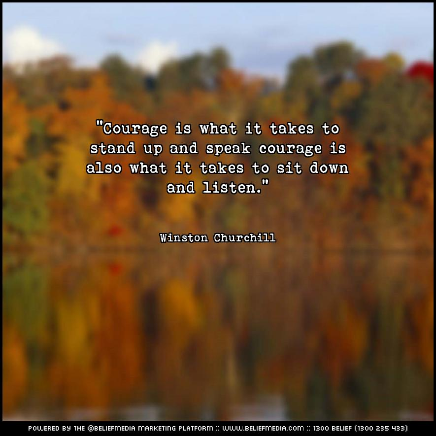 Quote from Winston Churchill about Courage